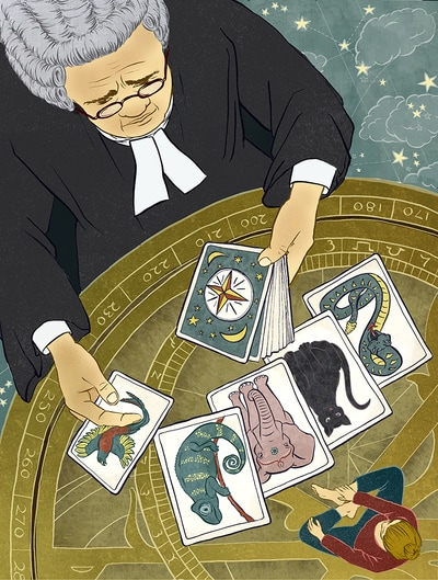 illustration tarot judge destiny astrolobe